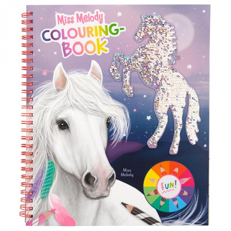 Miss Melody Colouring Book With Reversible Sequin
