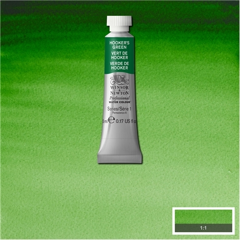 Professional Watercolour - Hookers Green 5ml Tube