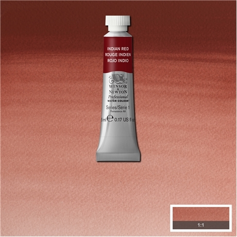 Professional Water Colour Indian Red