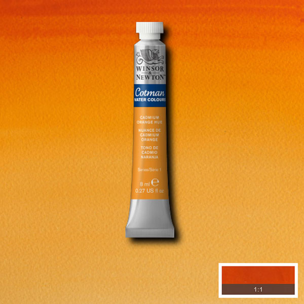 Cotman W/col 8ml Cad Orange