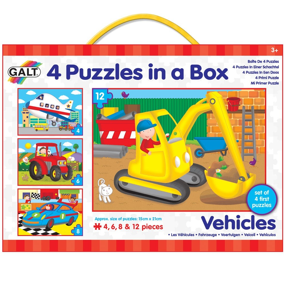 Puzzle 4 In A Box  -vehicles