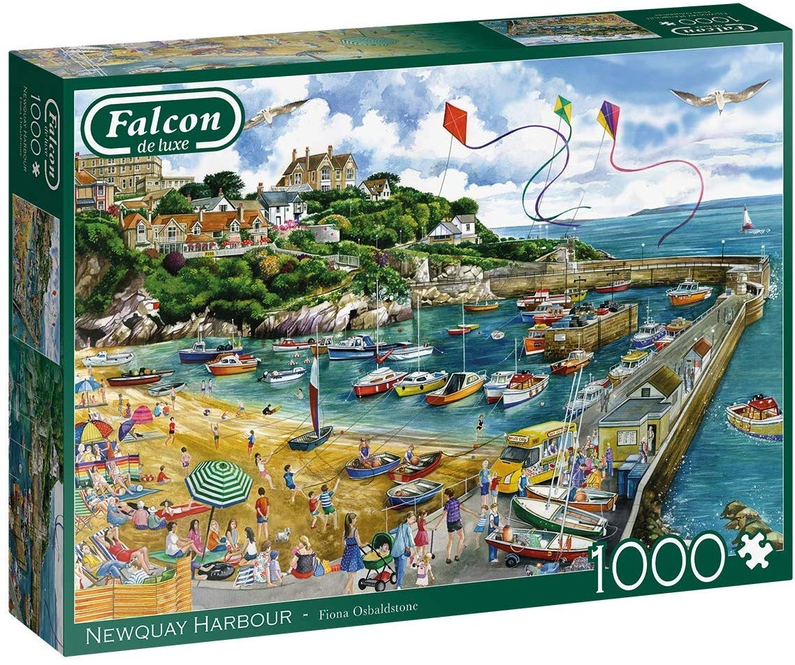 1000pc Deluxe Newquay Harbour