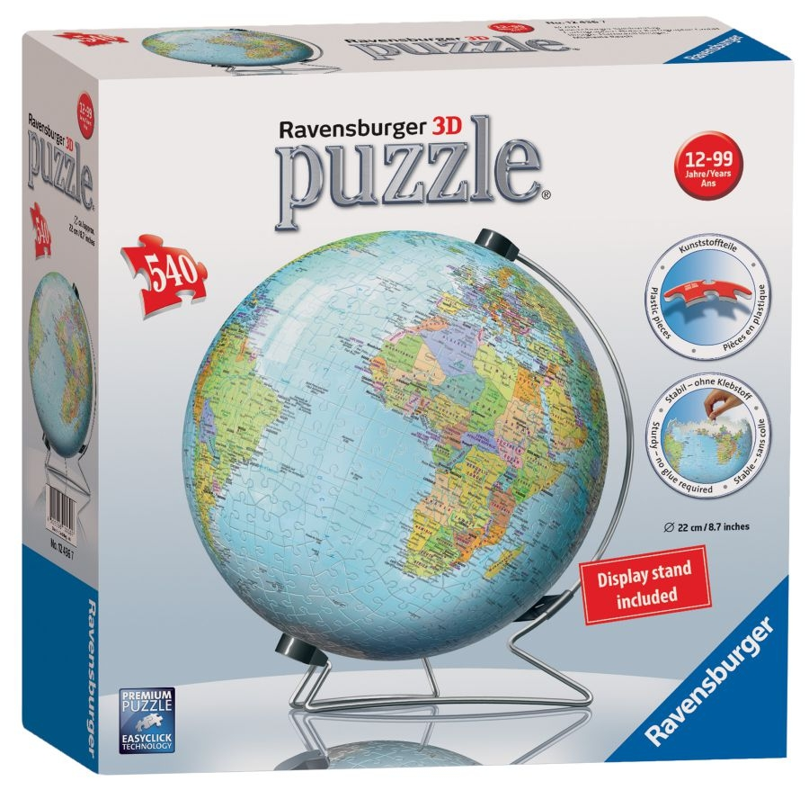 The World On V -stand 3d Puzzle®, 540pc