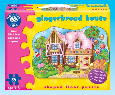 Gingerbread House Floor Puzzle-orchard