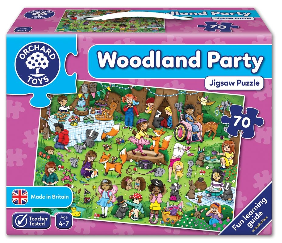 Orchard Toys  - Woodland Party Floor Puzzle
