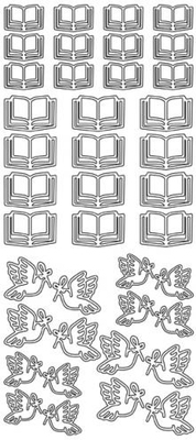 Peel Off Stkrs-peace Dove Bible Silver