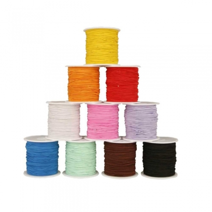 Elastic Beading Cord- 10 Assorted Colours
