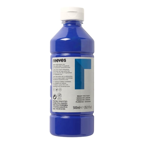 Reeves Blue 500ml Poster Paint