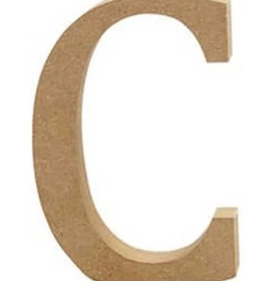 Creativ Mdf Alphabet Letter 13cm -single C