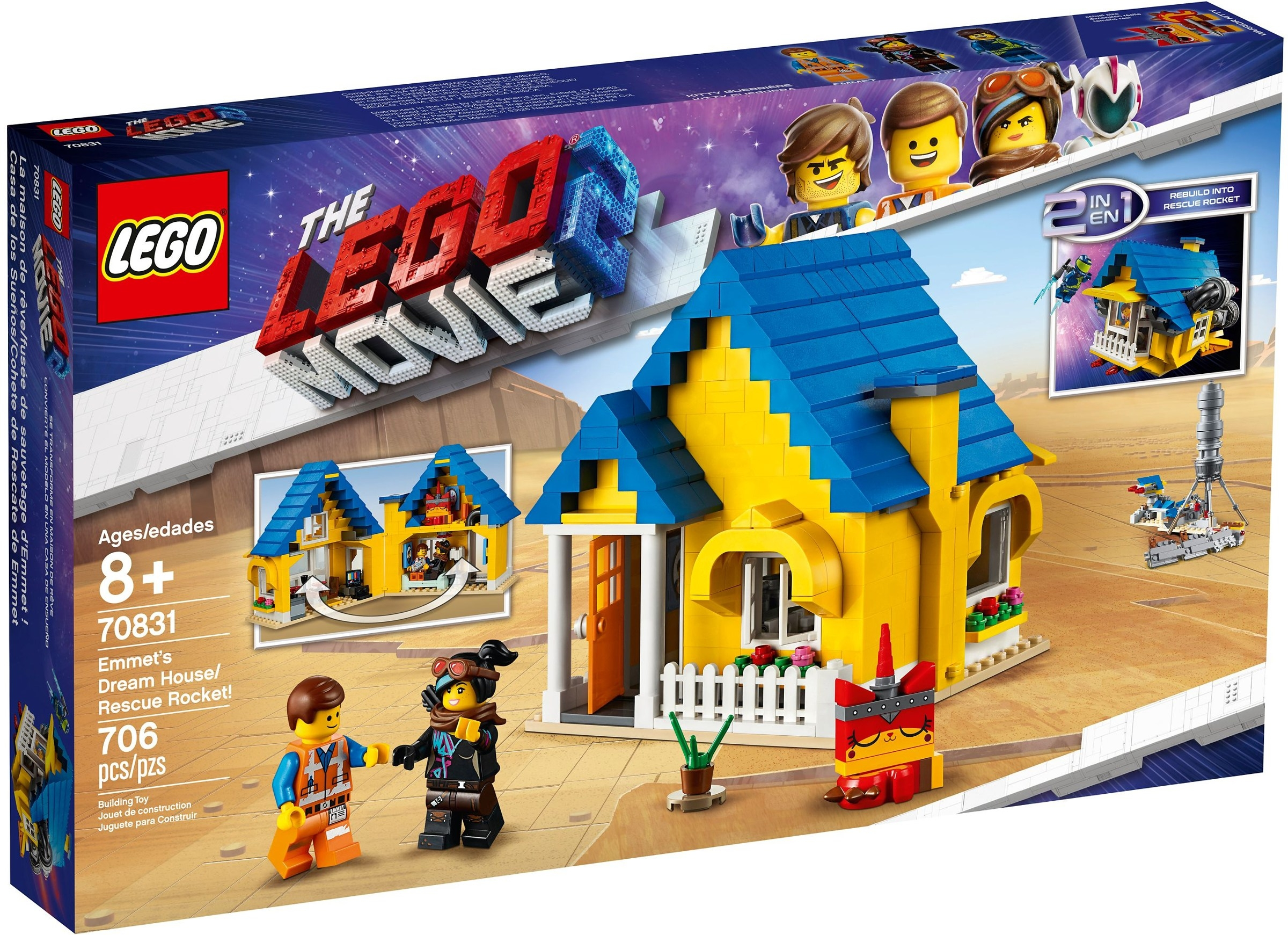 Lego Movie Emmets Dream House/rescue Rocket