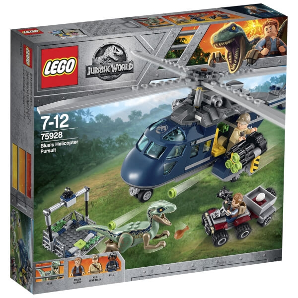 Lego Jurassic Fallen Kingdom: Blues Helicopter Pu