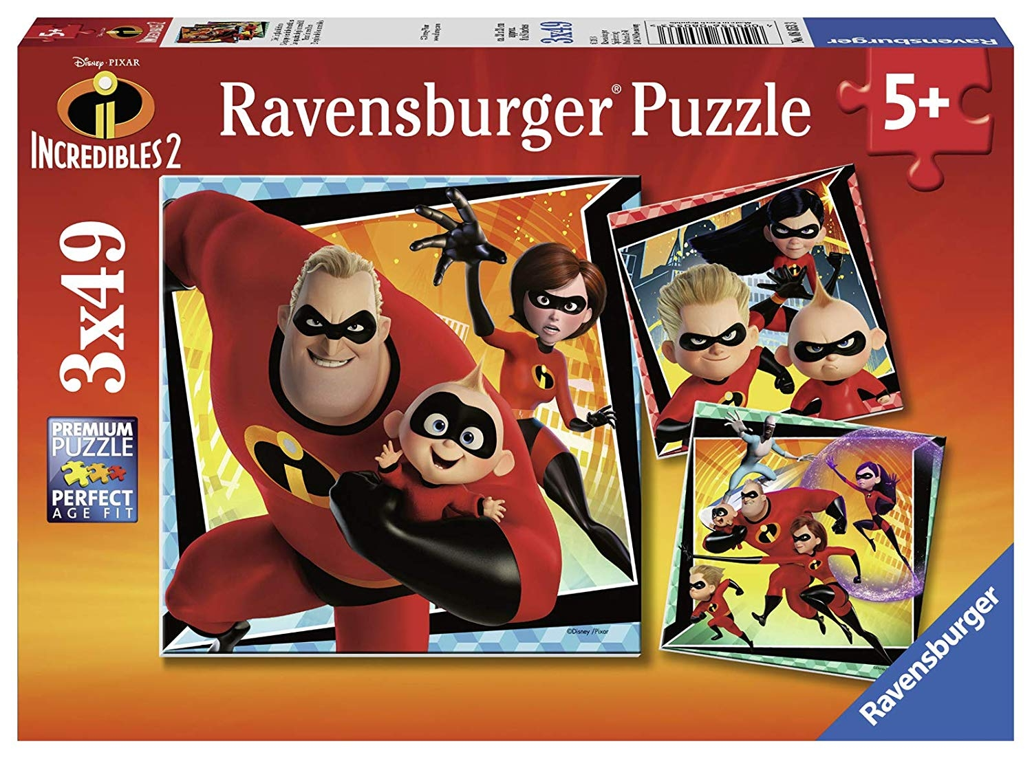 The Incredibles 2, 3 X 49 Pc