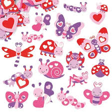 Love Bug Foam Stickers (pk 120)