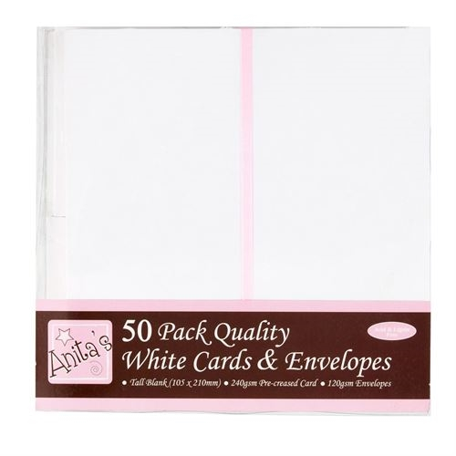 Tall Card/env.pk.50-white