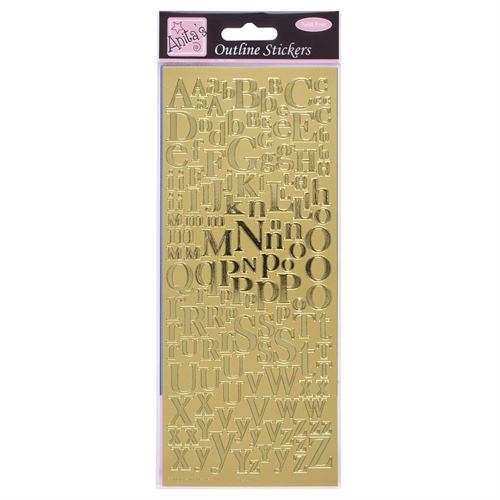 Outl.stkrs-mixed Alphabets Gold