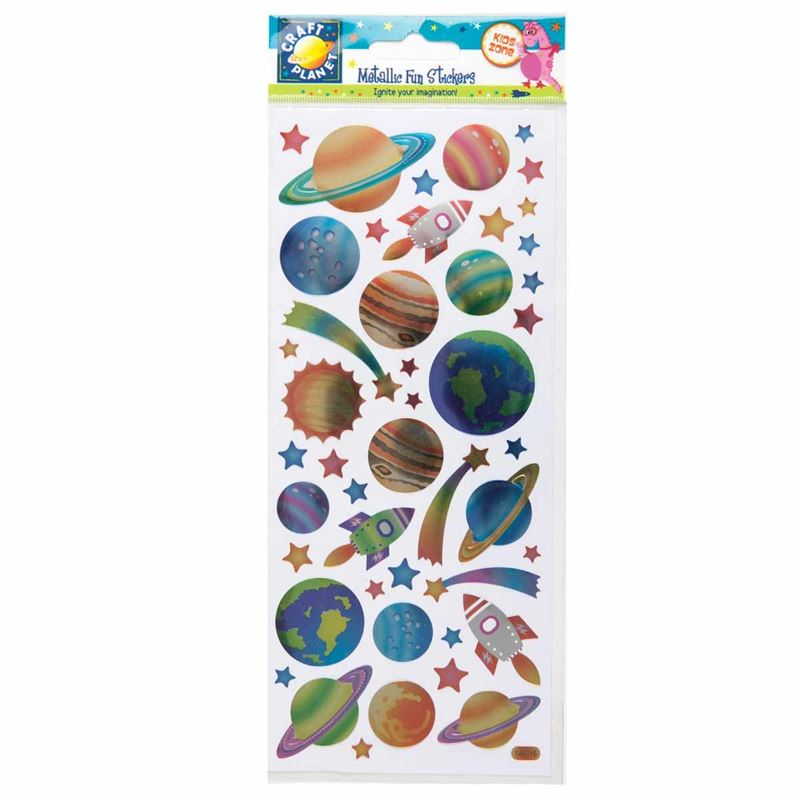 Metallic Stickers -outer Space