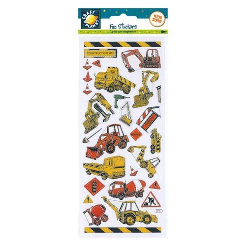 Fun Sticker-construction Vehicle