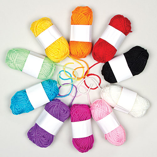 Coloured Wool (pack Of 10)