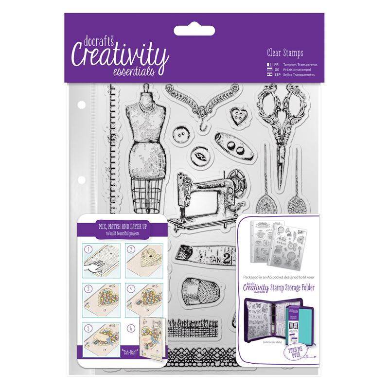 A5 Clear Stamp Set (19pcs)  - Haberdashery
