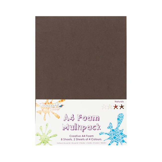 Dovecraft Junior Foam Pk - A5 Naturals 40pk