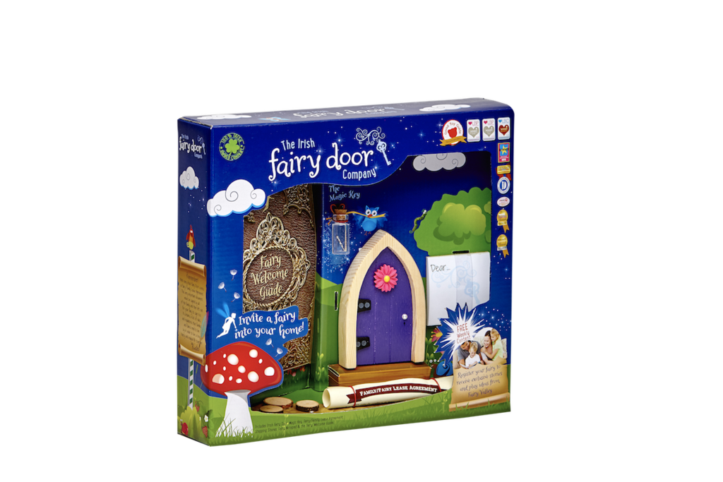 Irish Fairy Door Purple Arched Slim Packaging