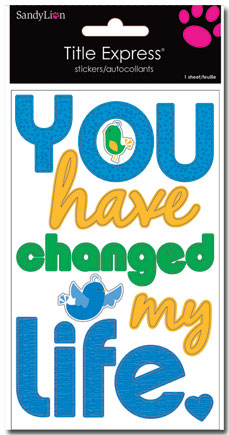 Title Sticker- You Have Changed