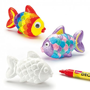 Polystyrene Fish (pack Of 6)