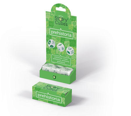 Rory Story 3 Cubes  -prehistoric (green)