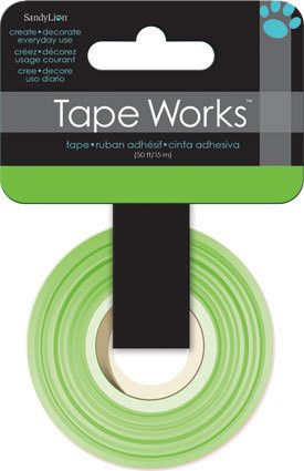 Tape Works - Washi Tape -bright Green