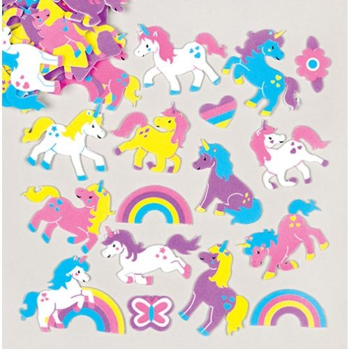 Rainbow Unicorn Foam Stickers (pack Of 120)