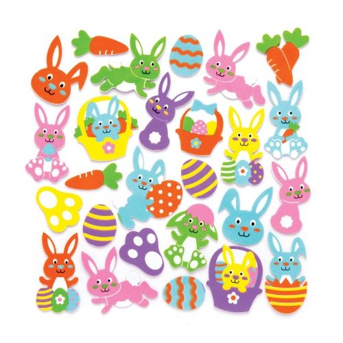 Bunny Foam Stickers (pack Of 120)