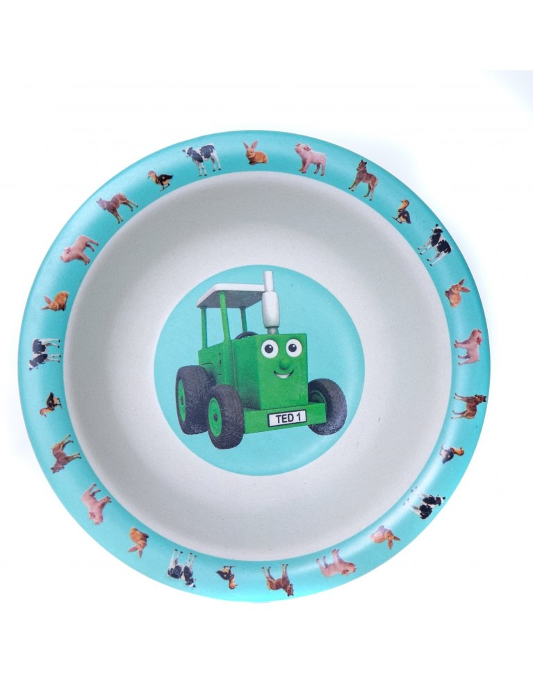 Tractor Ted Bamboo Bowl -baby Animals