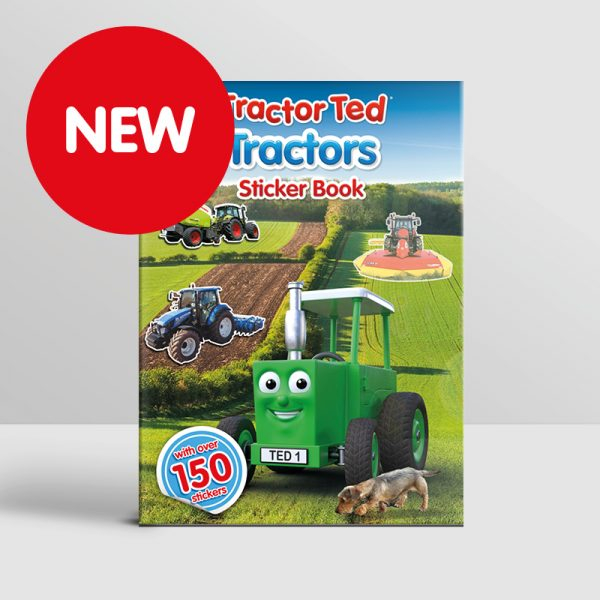 Tractor Ted Sticker Bk -tractor