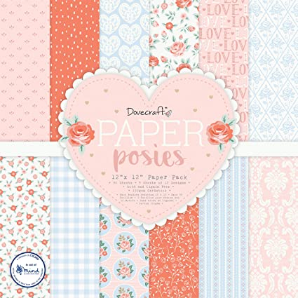 Dovecraft Paper Posies 12x12 Paper Pack