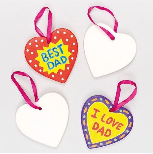 Ceramic Heart Hanging Deco Pk.5