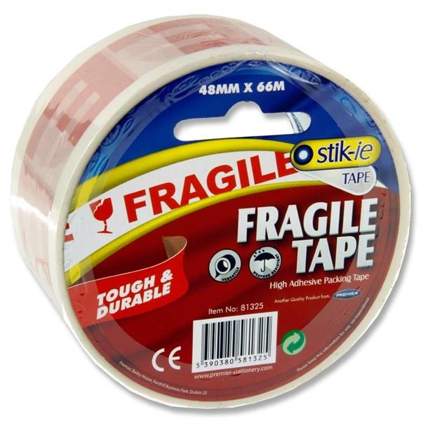 Stik -ie Fragile Packing Tape 48mmx66mm