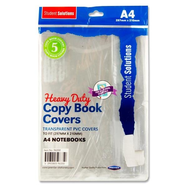 Pkt.5 A4 Pvc Heavy Duty Copy Book Covers