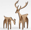 Stag And Hind, H: 5+12.5 Cm, L: 6.5+8 Cm, 1 Set, M