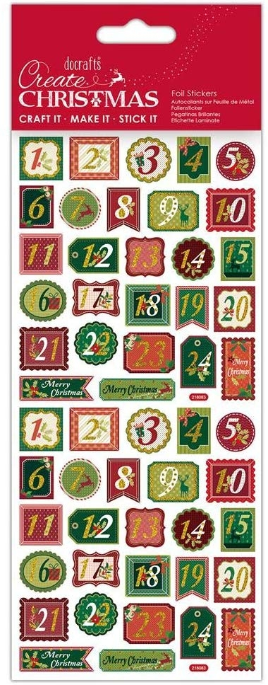 Foil Stickers - Create Christmas  - Trad Advent