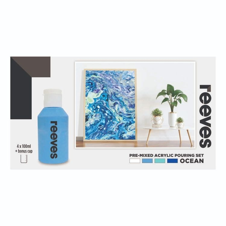 Reeves Pouring Acrylic Set - Ocean
