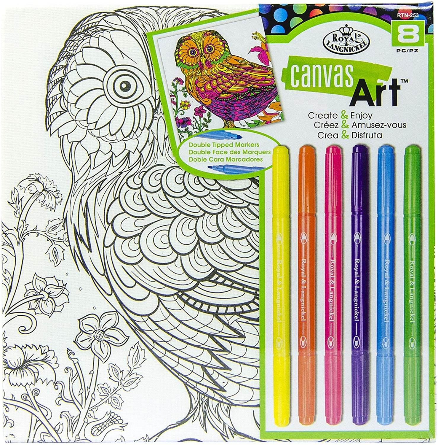 Canvas Art Markers Owl