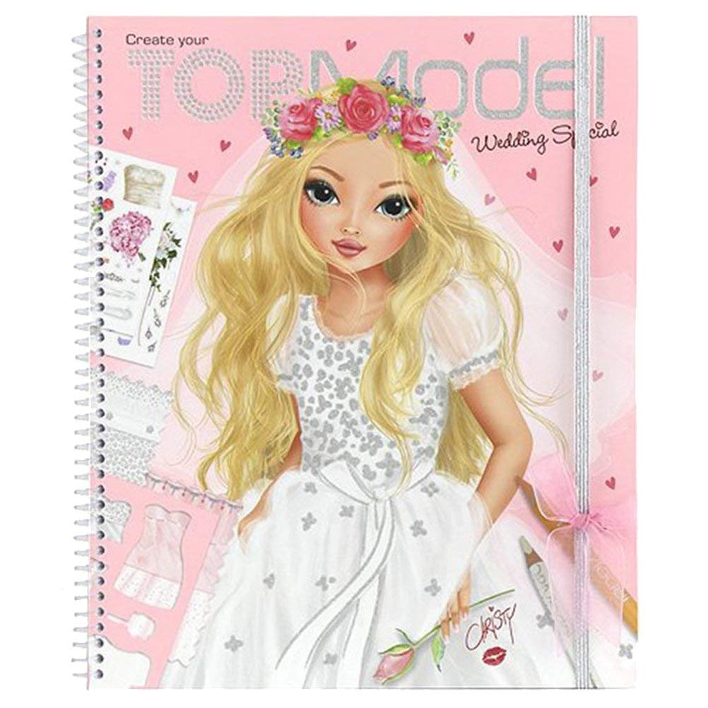 create your wedding special topmodel colouring boo