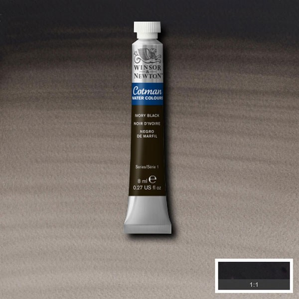 Cotman W/col 8ml Ivory Black