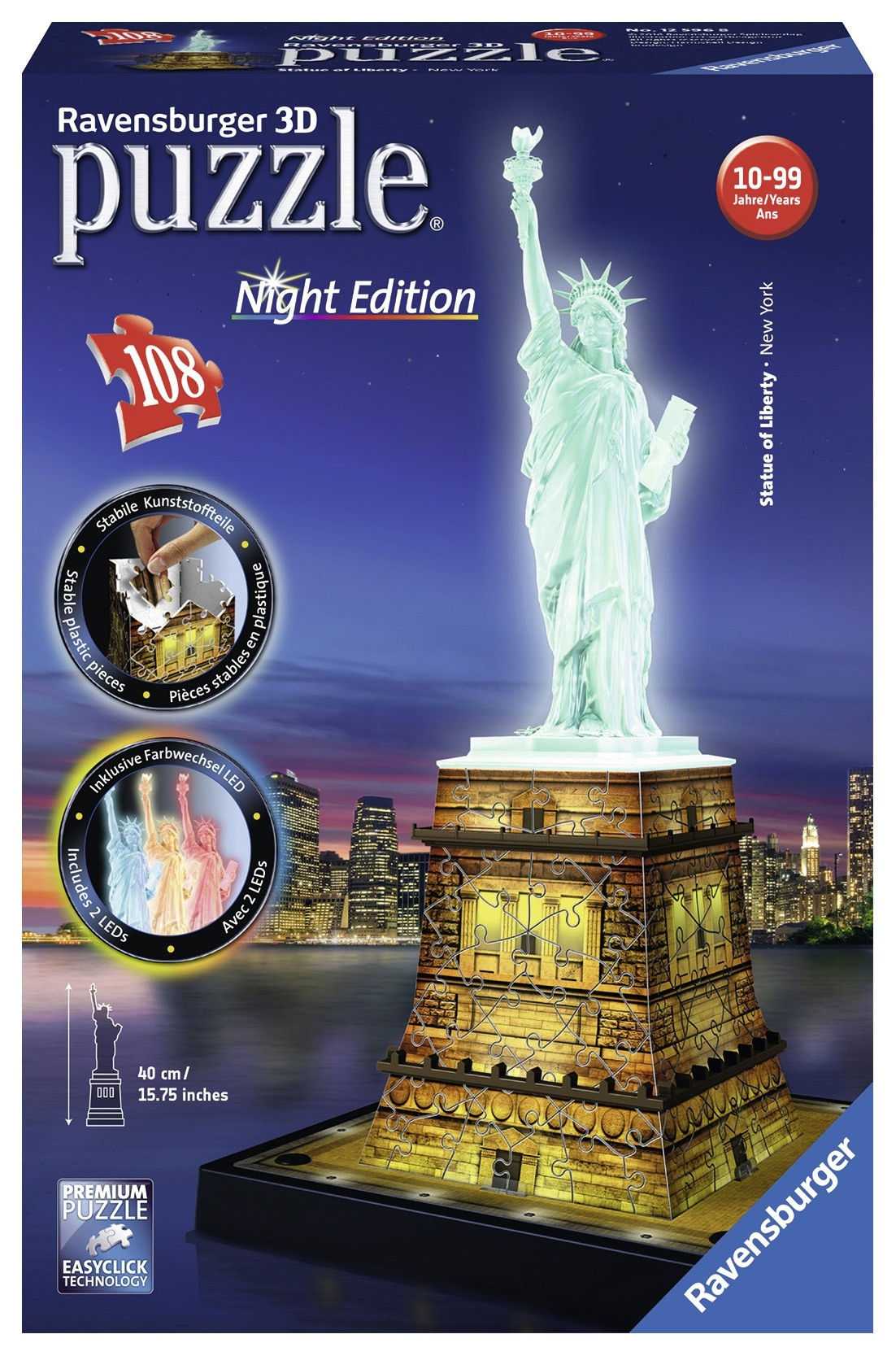 Statue Of Liberty Night Edition 3d Puzzle®, 216pc