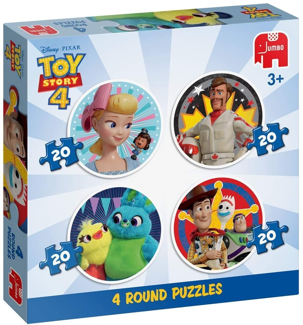 Toy Story 4  - 4 In 1 Round Puzzle