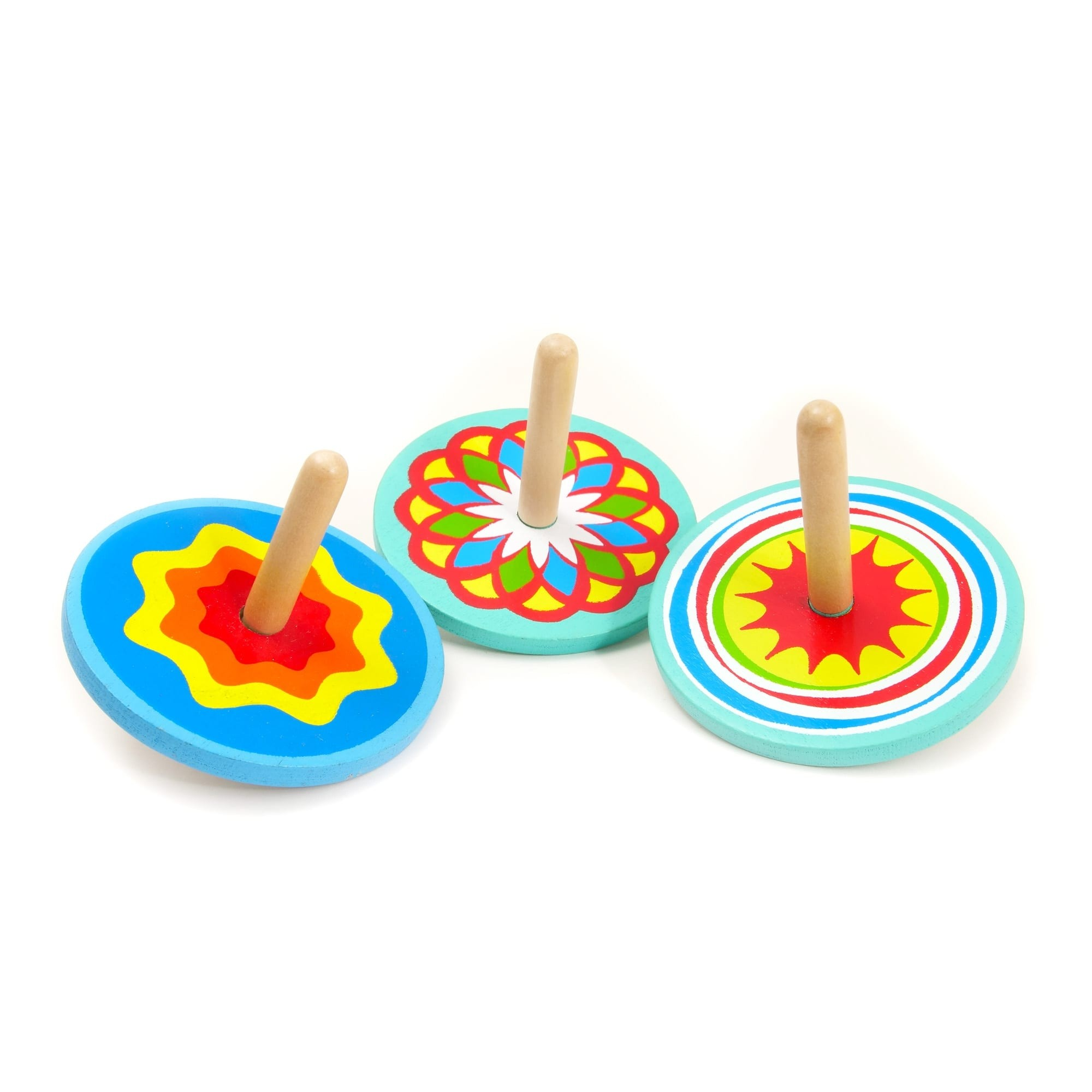 Colourful Wooden Spinning Tops
