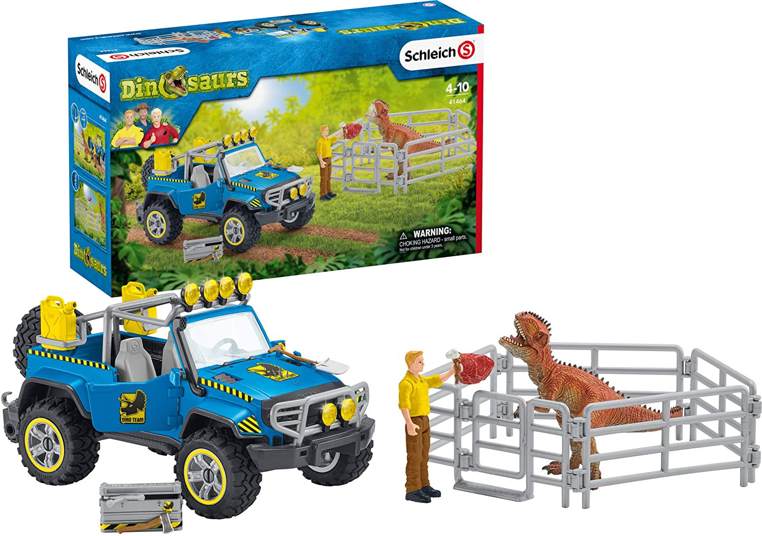 Schleich Off -road Vehicle With Dino Outpost