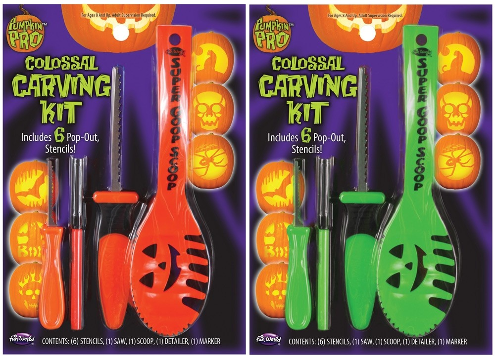Colossal Pumpkin Carving Kit 10 Pc