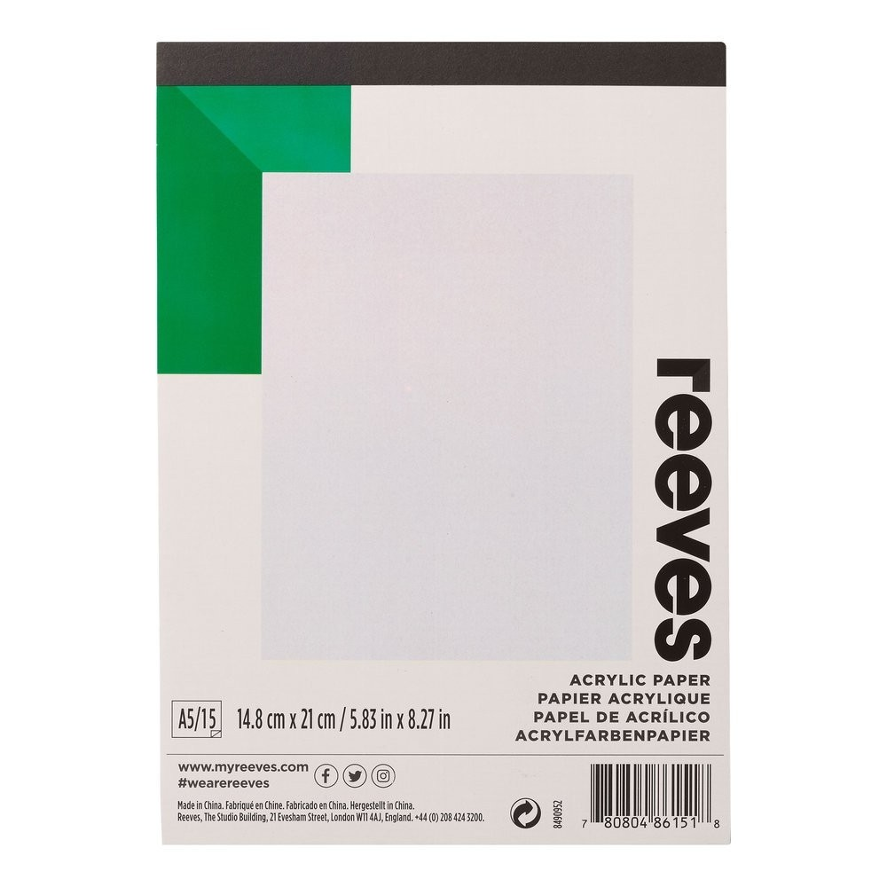 Reeves Acrylic Pad A5 190gsm 15 Shts