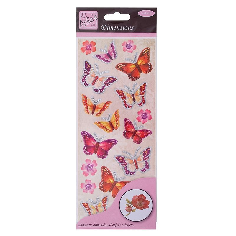 Dimensions - Butterflies  - Red/pink
